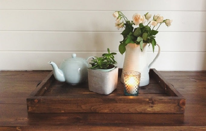DIY wooden serving tray