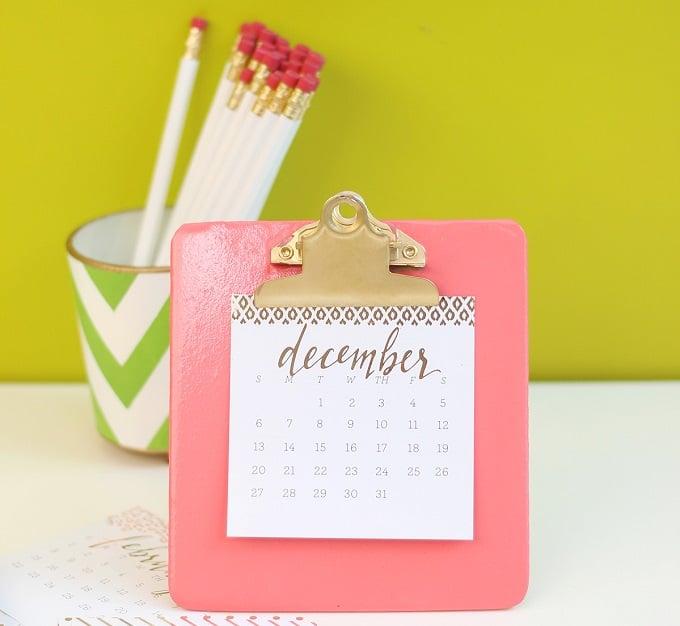 clipboard easel calendar
