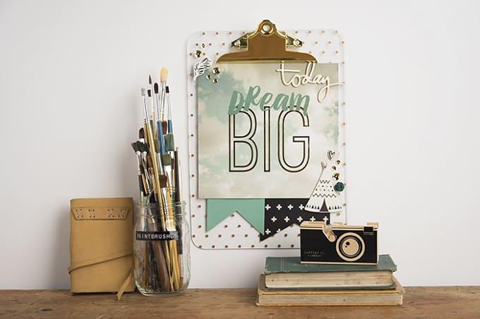 inspirational diy clipboard