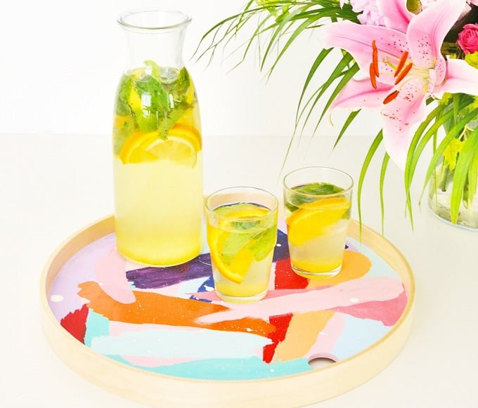 brushstroke tray