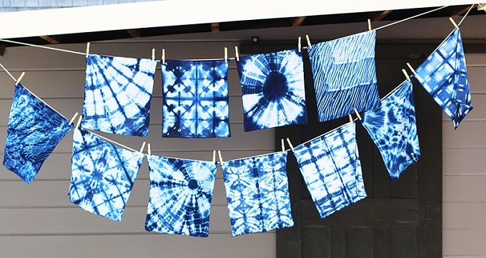 DIY Shibori fabric napkins