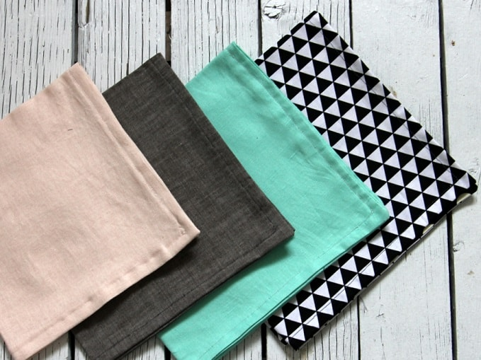 reversible fabric napkins