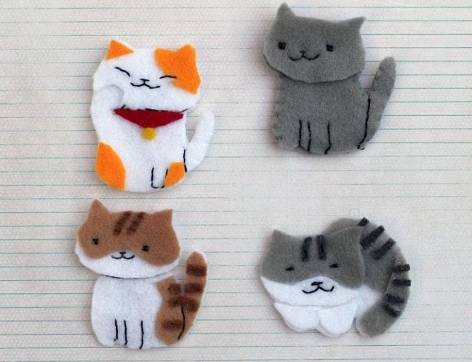felt kittens