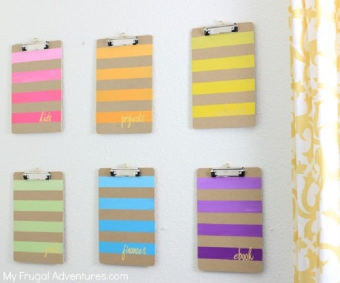 ombre painted clipboards
