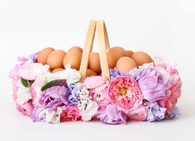 DIY Flower Easter Basket
