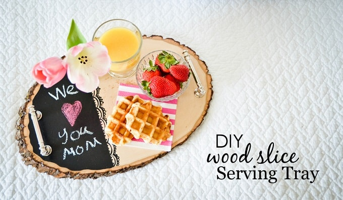wood slice serving tray
