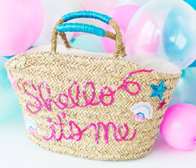 DIY Sequin Beach Bag
