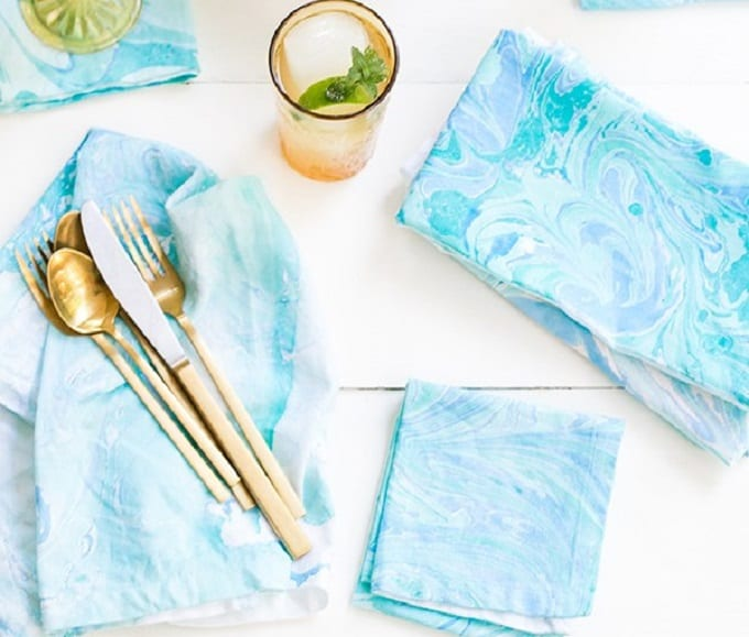 marbled napkins