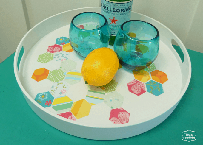 hexagonal pattern serving tray