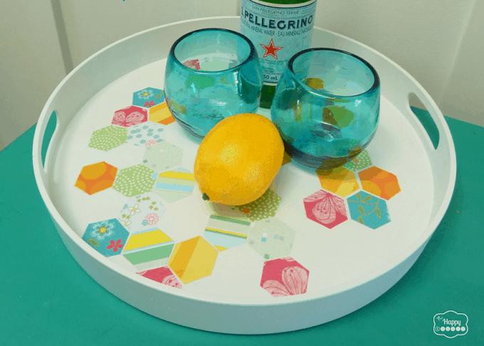 hexagonal pattern serving tray
