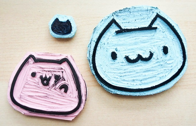 rubber cat stamps