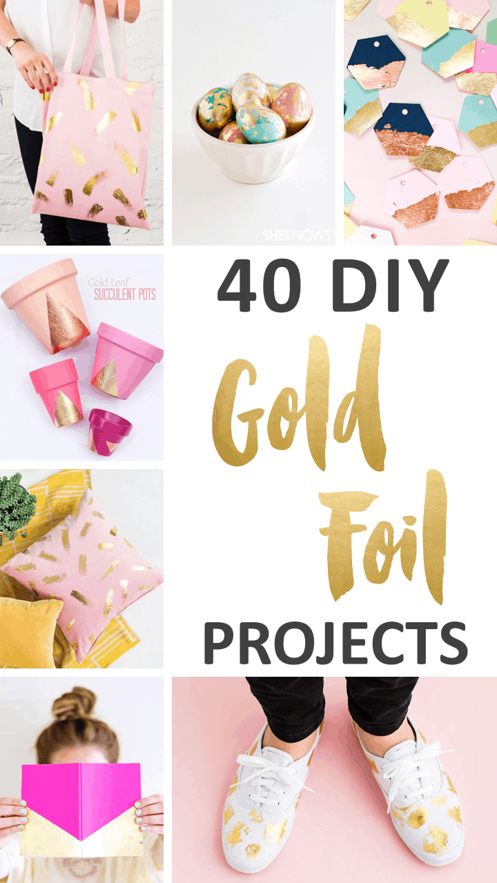 Love Gold? Try These 40 DIY Gold Leaf Paper Crafts. | Ideahacks.com