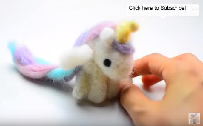 unicorn felting project