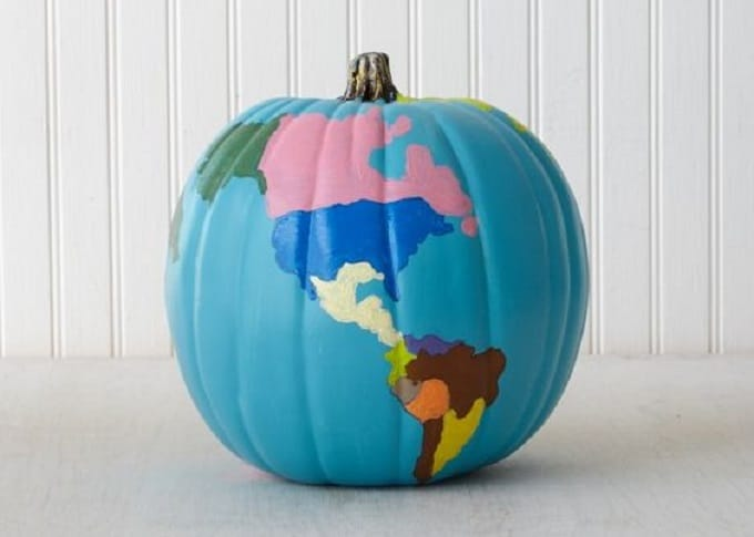 pumpkin decorating globe