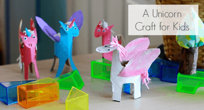 unicorns using just cardboard