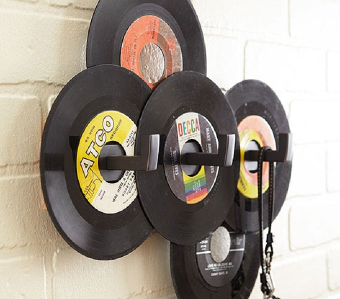 old records wall hooks