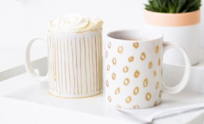 gold leaf mug