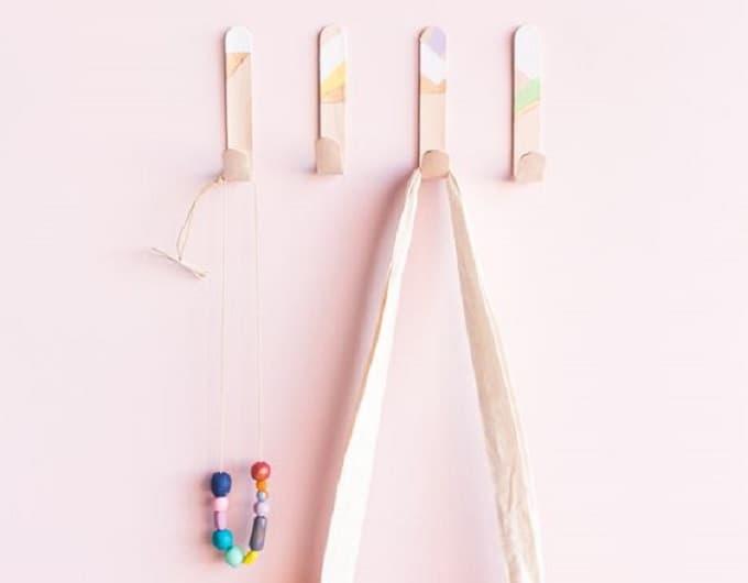 lollipop stick wall hooks