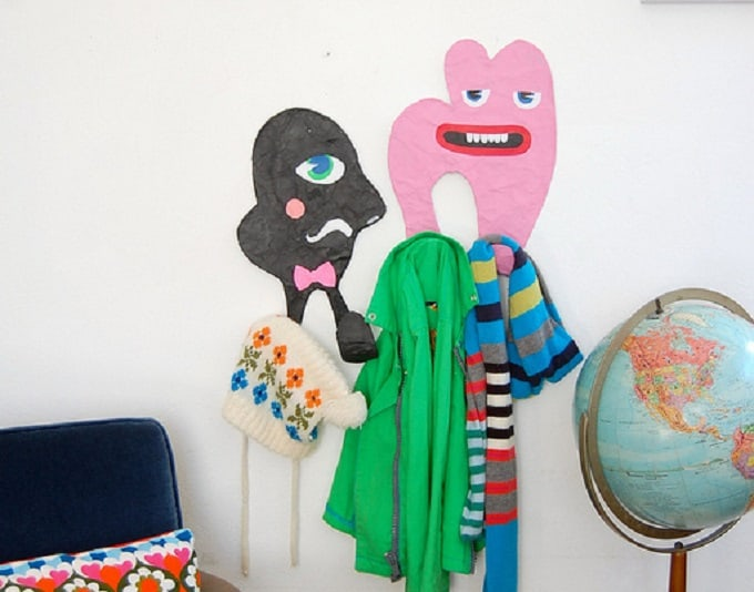 DIY children's wall hooks