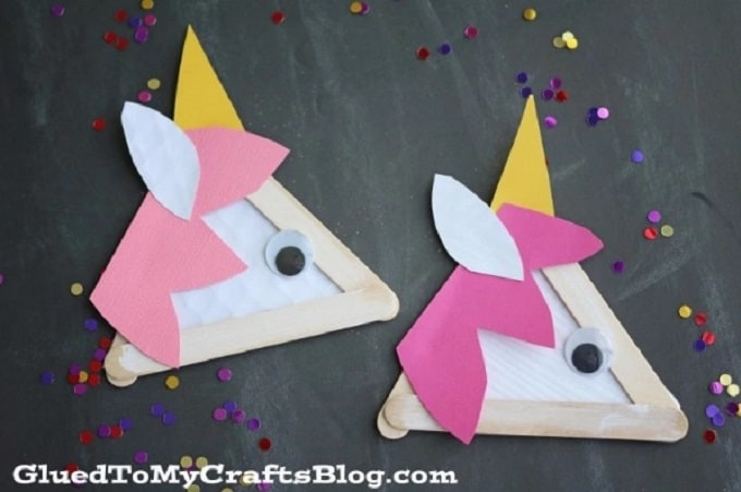 popsicle stick unicorns