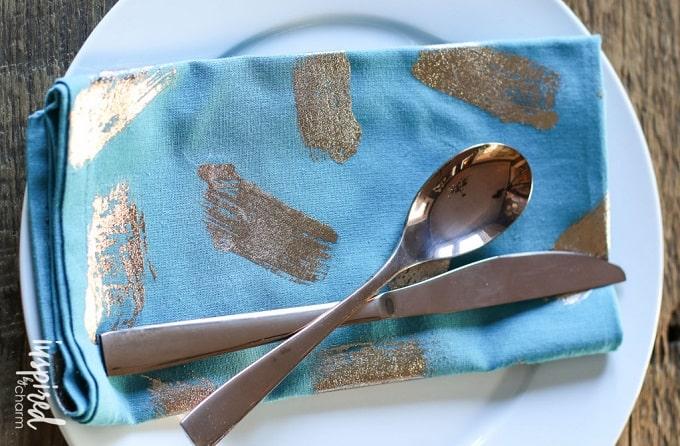 gold foil napkins
