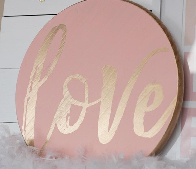 gold foil lettering