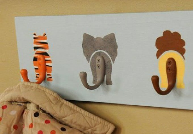 DIY animal tail hooks