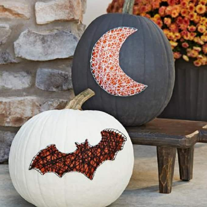 bat painted pumpkin