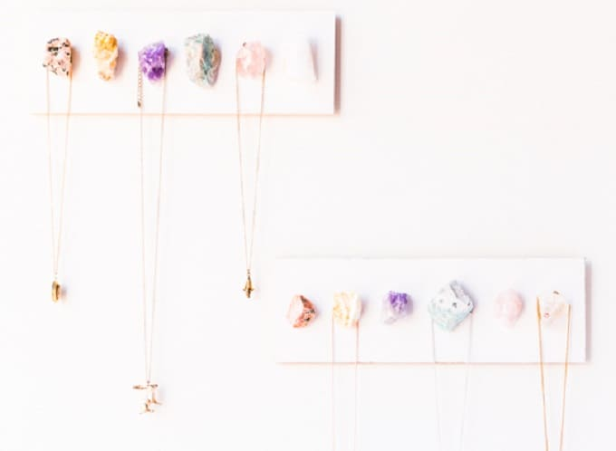DIY crystal wall hooks