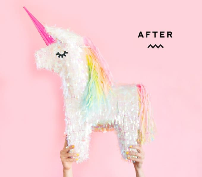unicorn piñata makeover