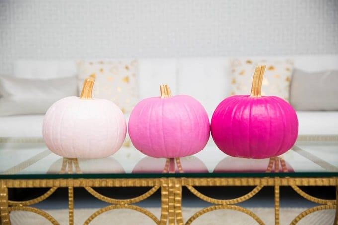 ombre trio pumpkins