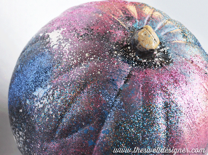 galaxy art pumpkin