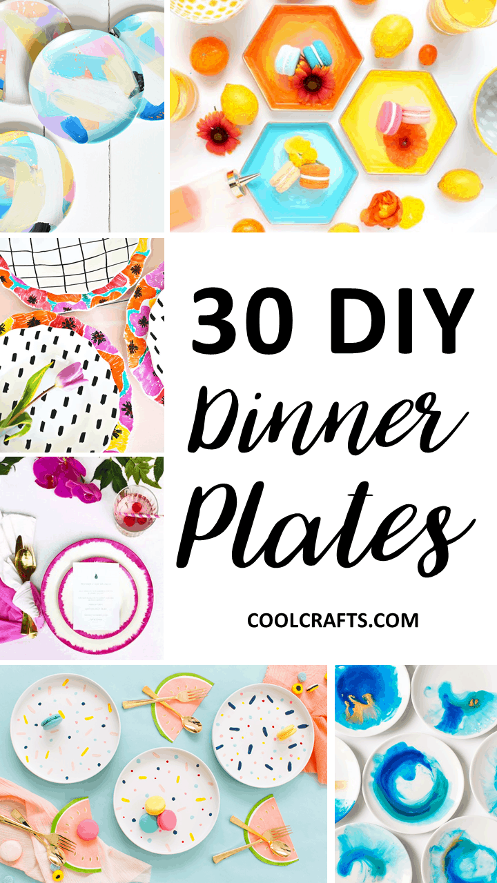 30 Decorative Plates That You Can Create Yourself.