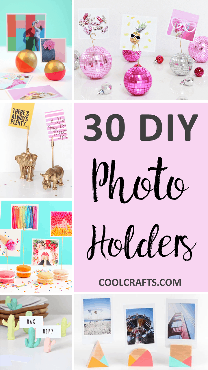 30 Custom Photo Holder Ideas to Flex Your Creative Muscle Over • Cool Crafts