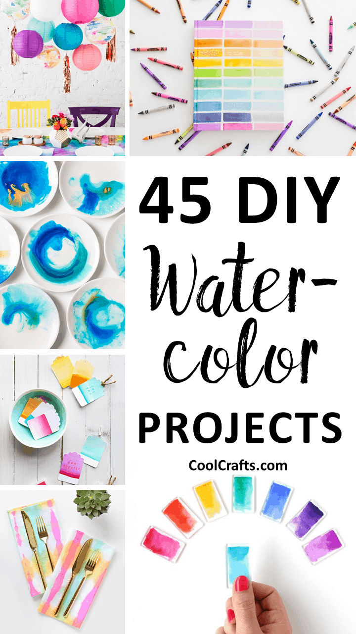 45 DIY Watercolor Projects Ideas You Can Try With Your Kids. | Coolcrafts.com