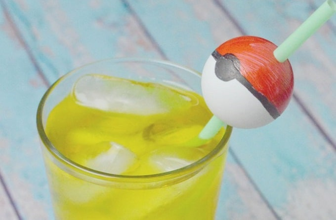 pokeball straw toppers