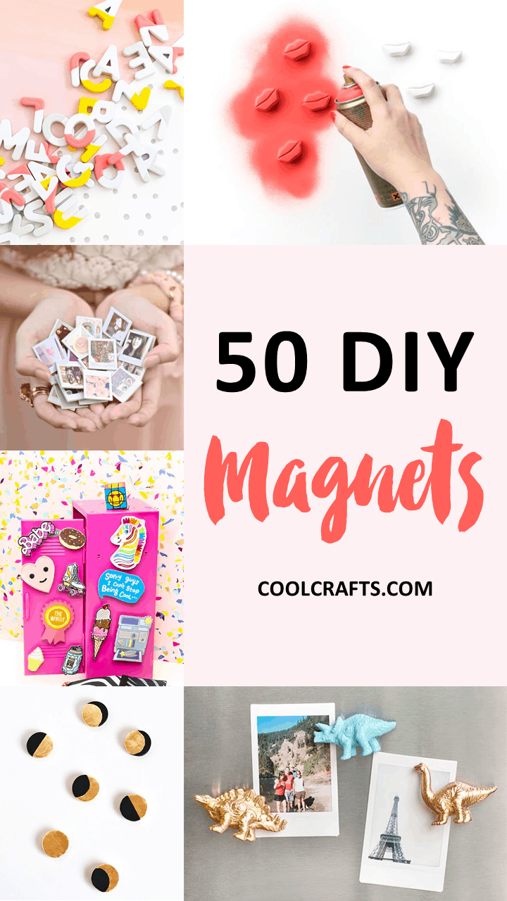 50 Adorable DIY Magnet Projects You Can Stick On Your Fridge. | Coolcrafts.com