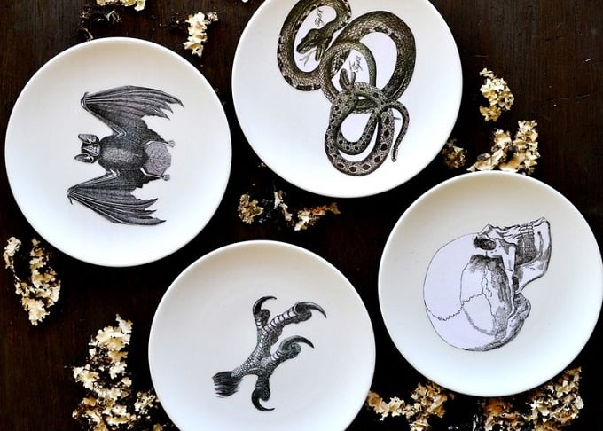 DIY Halloween inspired dinner plates