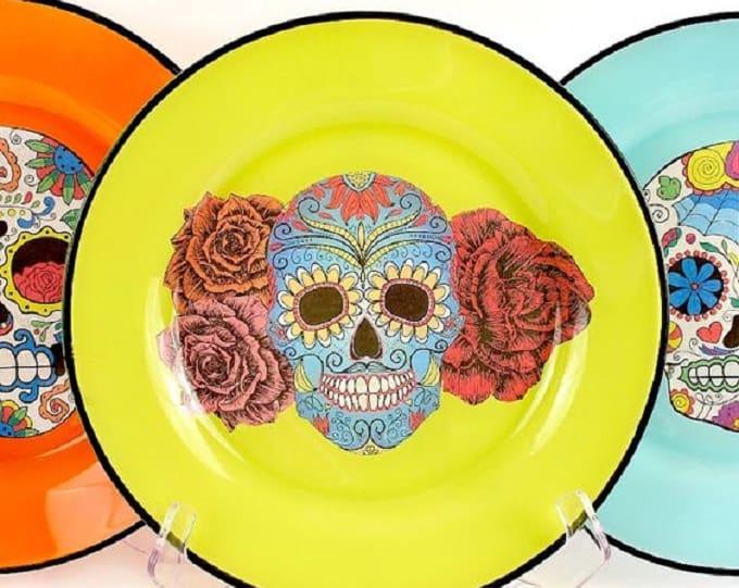 DIY sugar skull plates
