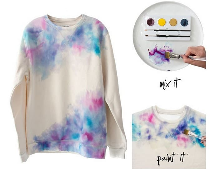 watercolor sweatshirt