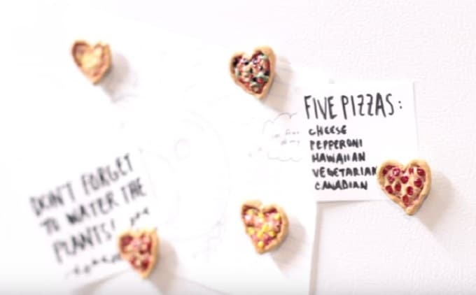 pizza heart magnets