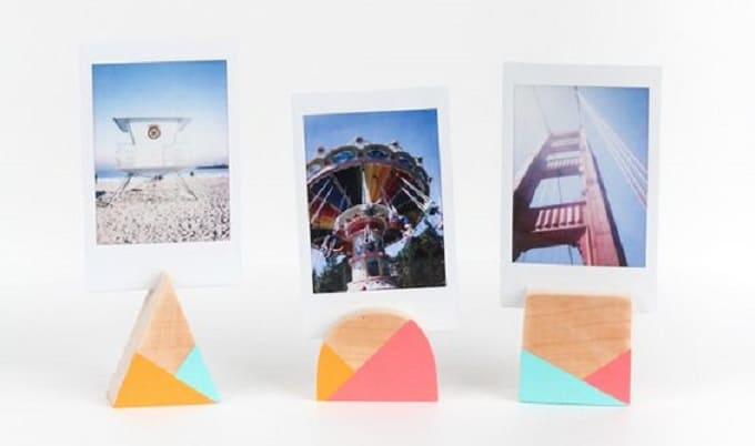 geometric photo holders