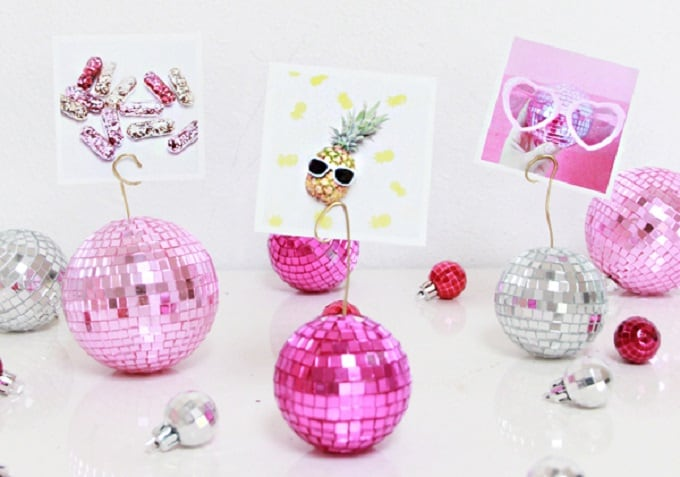mini disco ball photo holders