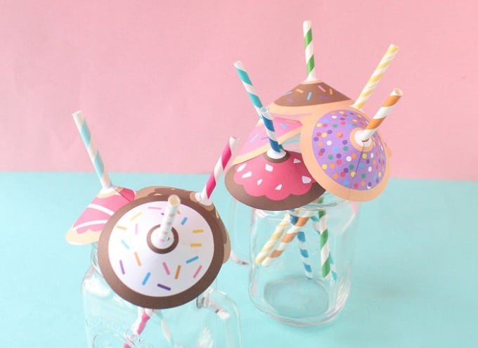 Donut straw umbrellas