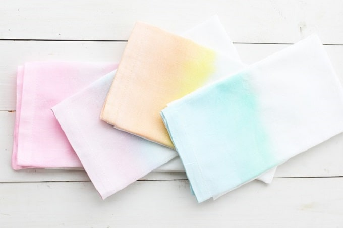 watercolor cloth napkins