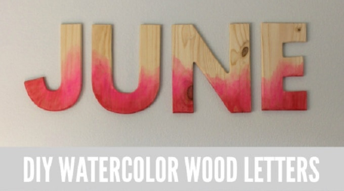 watercolor letter tutorial