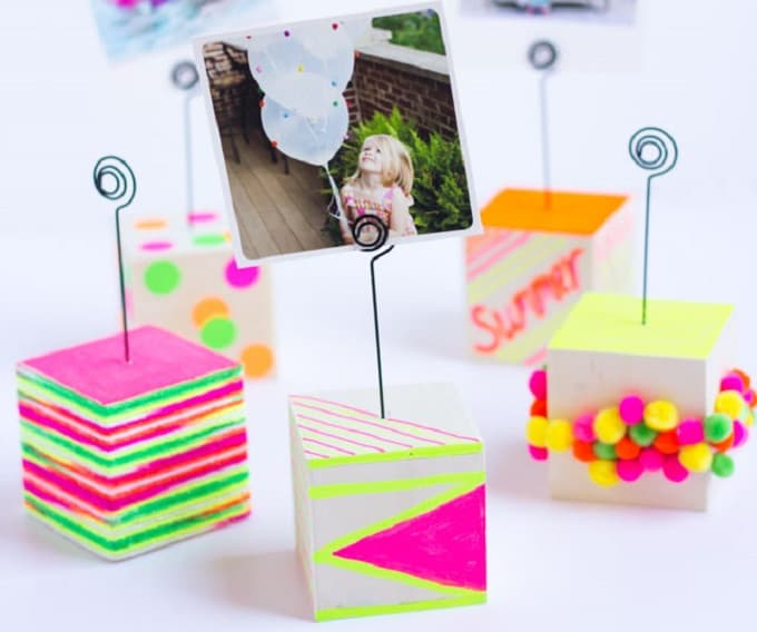 wooden photo holders