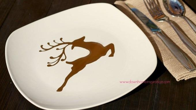 reindeer design plate
