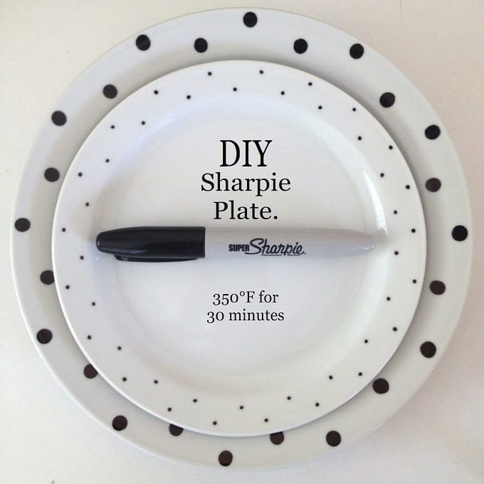 DIY Sharpie plates