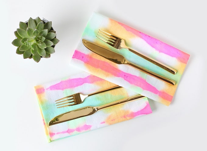 watercolor napkins
